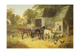 Horses in Harness Giclee Print by John Frederick Herring Jnr