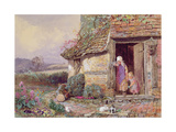 At the Cottage Door Giclee Print by Myles Birket Foster