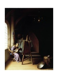 Man with Easel Giclee Print by Gerrit or Gerard Dou