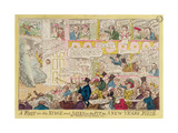 """A Foot on the Stage and Asses in the Pit, or a New Year's Piece for Covent Garden Theatre,… Giclee Print by Isaac Robert Cruikshank"