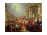 Queen Victoria's Procession to Guildhall, 9th November 1837, 1838 Giclee Print by John Henry Nixon