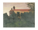 Landscape at Perouse Giclee Print by Felix Edouard Vallotton