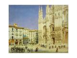 Milan Cathedral, 1846 Giclee Print by Luigi Premazzi