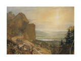 Valley of the Wharfe with Otley in the Distance Giclee Print by J. M. W. Turner