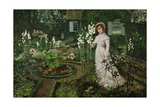 The Rector's Garden, Queen of the Lilies, 1877 Giclee Print by John Atkinson Grimshaw