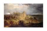 Nottingham Castle: King Charles I Raising His Standard, 24th August 1642 Giclee Print by Henry Dawson