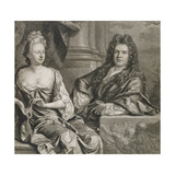 Mr and Mrs Gibbons, Engraved by John Smith Giclee Print by Johann Closterman