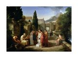Homer Singing His Iliad at the Gates of Athens Giclee Print by Guillaume Lethiere