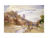 Durham from the River Giclee Print by William Callow