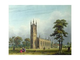 South-West View of the Church of St. Nicholas, Lower Tooting Giclee Print by Thomas Witlam Atkinson