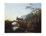 Bridge in an Italian Landscape Giclee Print by Adam Pynacker