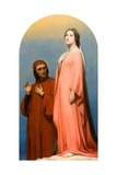 The Vision: Dante and Beatrice, 1846 Giclee Print by Ary Scheffer