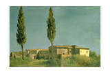 At the Villa Farnese: the Two Poplars, C.1777 Giclee Print by Pierre Henri de Valenciennes