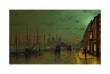 Prince's Dock, Hull, 1882 Giclee Print by John Atkinson Grimshaw