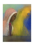 Portrait of a Woman in a Pink Veil, 1885 Giclee Print by Odilon Redon