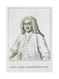 John James Heidegger (1666-1749) Giclee Print by Jean-Baptiste van Loo