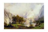 Rocky Mountain Landscape, 1870 Giclee Print by Albert Bierstadt