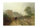 Laying Monster Tubes from the New River, 1855 Giclee Print by James Baker Pyne
