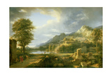 The Ancient Town of Agrigentum, 1787 Giclée-Druck von Pierre Henri de Valenciennes