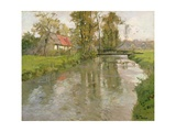 River Landscape, C.1897 Giclee Print by Fritz Thaulow