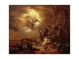 Angels' Annunciation to the Shepherds Giclee Print by Jacob Willemsz de Wet or Wett