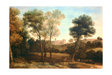 Landscape with Castle Giclee Print by Claude Lorrain
