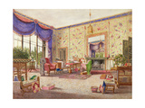 The Interior of the Chinese Drawing Room, Middleton Park, Oxfordshire, 1840 Giclee Print by William Alfred Delamotte