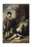 Two Peasant Boys and a Negro Boy, C.1670 Giclee Print by Bartolome Esteban Murillo