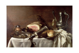 Still Life with a Ham Giclee Print by Pieter Claesz