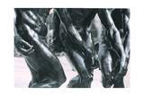 The Three Shades, Detail of the Torso and Arms, 1881 (Detail) Giclee Print by Auguste Rodin