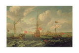 The Royal Yacht Off Sheerness, C.1680 Giclee Print by Isaac Sailmaker