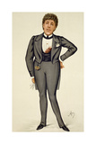 Oscar Wilde (1854-1900) Cartoon from 'Vanity Fair', 1884 Giclee Print by Carlo Pellegrini