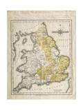 Map of Southern Britain, Coloured to Show Geological Areas of Interest, Annotated by William… Giclee Print by John Cary