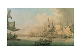 Billingsgate at High Water, C.1772 Giclee Print by Robert Cleveley