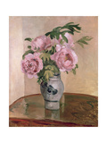A Vase of Peonies, 1875 Giclee Print by Camille Pissarro