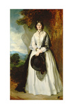 Young Woman in White Dress Against a Landscape Giclee Print by Sir Francis Grant