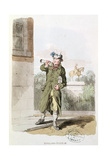 The Newsman from 'Costume of Great Britain' Giclee Print by William Henry Pyne