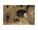 Anticoli Corrado on the Sabine Mountains, 1883 Giclee Print by Charles H. Poingdestre