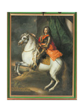 Equestrian Portrait of Prince Eugene of Savoy (1663-1736) Giclee Print by Johann-Gottfried Auerbach