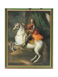 Equestrian Portrait of Prince Eugene of Savoy (1663-1736) Giclee Print by Johann-Gottfried Auerbach