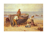 Boat, Figures and Sea Giclee Print by Myles Birket Foster