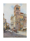 View of Santa Maria in Monticelli, Rome Giclee Print by Ettore Roesler Franz