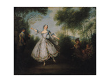 Marie-Anne Cuppi (1710-70) known as La Camargo, Dancing, 1730 Giclee Print by Nicolas Lancret