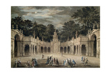 The Illuminations at Buckingham House for King George III's Birthday, June 4th, 1783 Giclee Print by Robert Adam