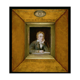 No.0713 a Portrait Miniature of John Keats (1795-1821) C.1818 Giclee Print by Joseph Severn