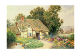 A Cottage by a Duck Pond Giclee Print by Arthur Claude Strachan