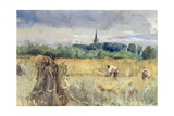 Harvest Field, Stratford-Upon-Avon Giclee Print by John William Inchbold