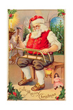 Santa's Workshop Giclee Print