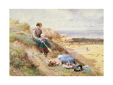 Cullercoats Giclee Print by Myles Birket Foster