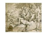 Diana and Callisto, C.1595 Lámina giclée por Abraham Bloemaert